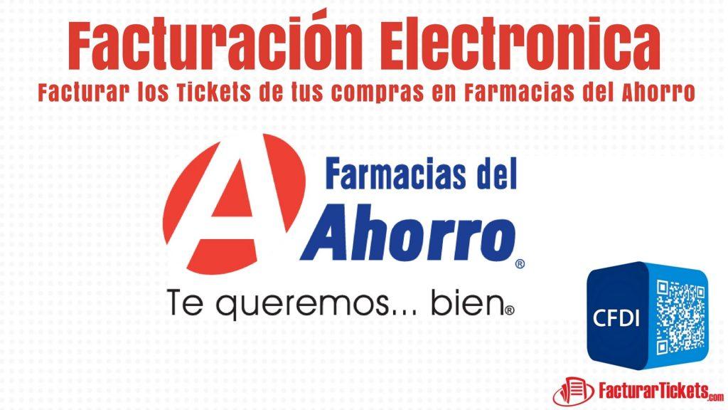 facturacion electronica farmacias del ahorro