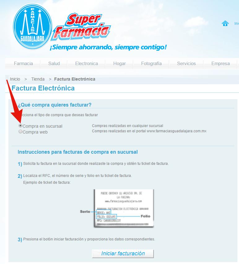 pagina para facturacion electronica super farmacias guadalajara