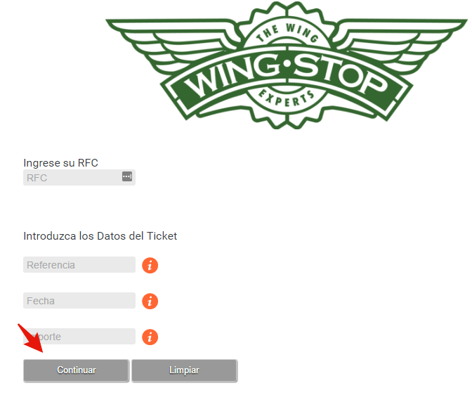 sitio de facturacion electronica wingstop
