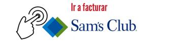 Botón para ir al sistema de facturación Sams Club