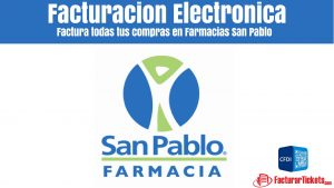 Facturacion Farmacias San Pablo en linea