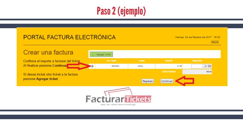 Paso 2 Agregar tickets