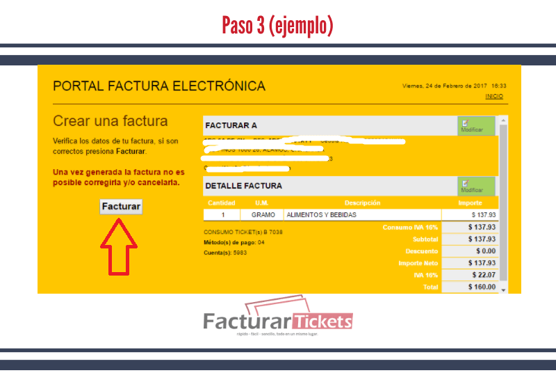 Verificar datos de factura
