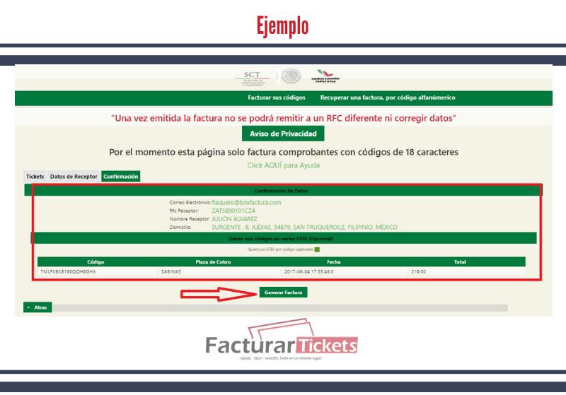 Ejemplo: generar factura.