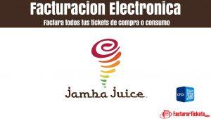 Facturación Jamba Juice en linea