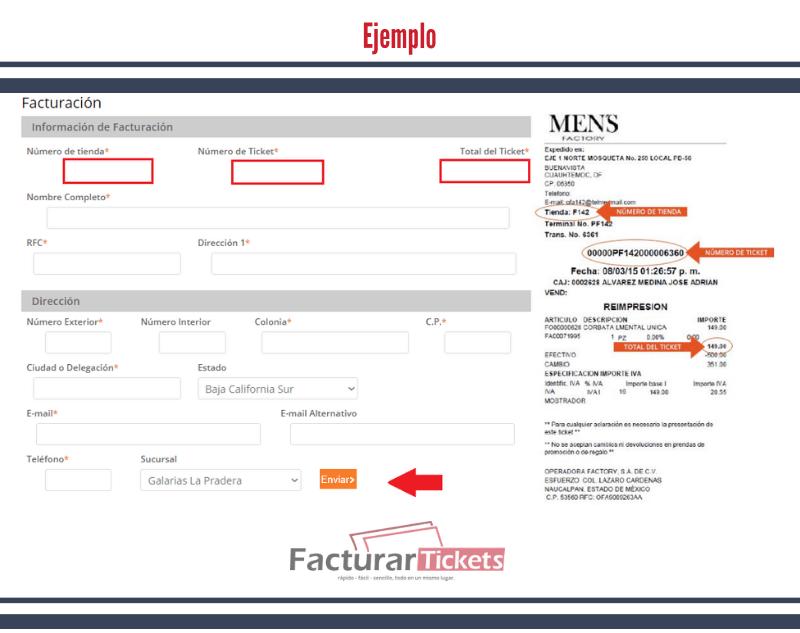 Ejemplo: facturación Mens Factory.