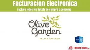 Facturación Olive Garden en linea