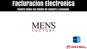 Facturación Men´s Factory en linea