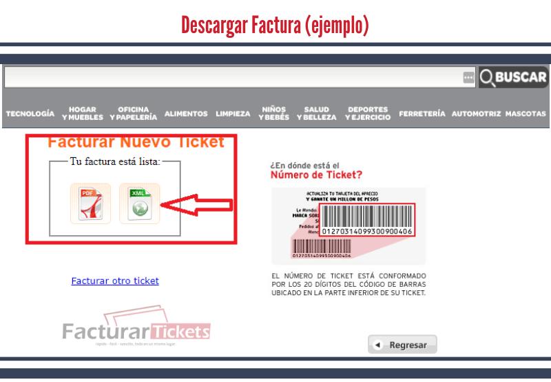 Botones de descarga de factura