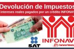 declaración de las deducciones de intereses por créditos de INFONAVIT