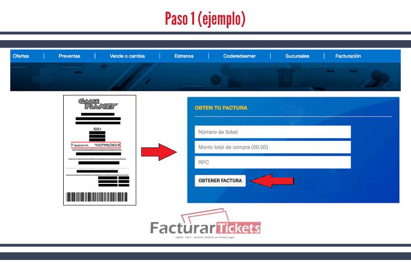 Paso 1 Ingresar RFC y datos del Ticket