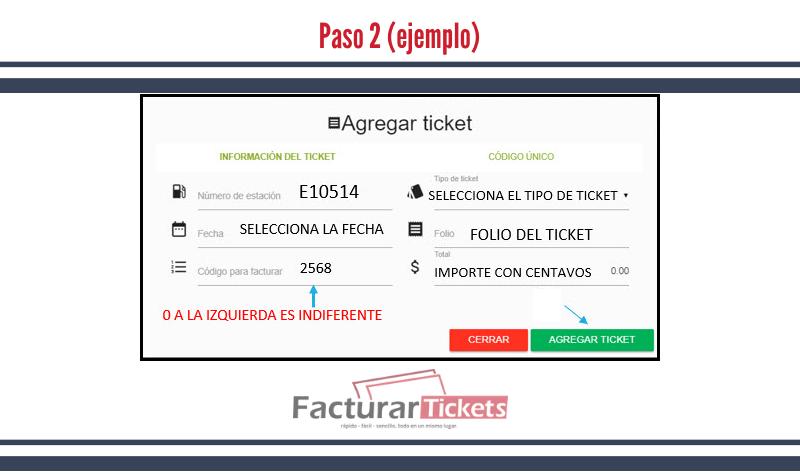 Paso 2 Agregar tickets.