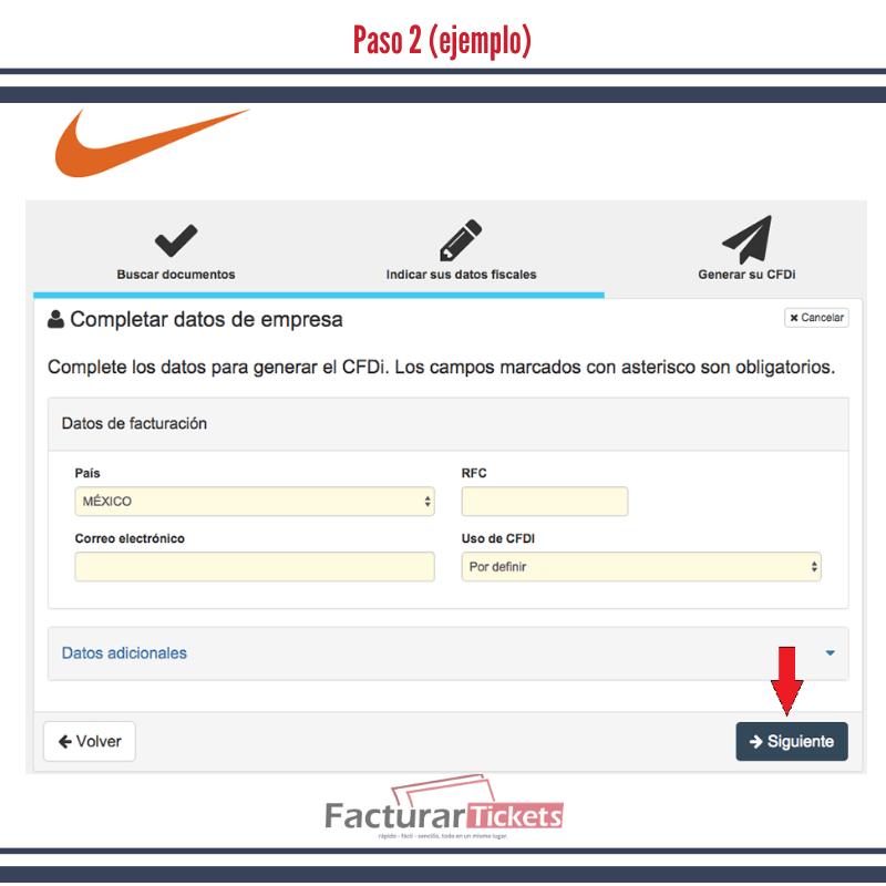 Derrotado limpiar metodología  Nike Store - Facturacion de Tickets en Linea