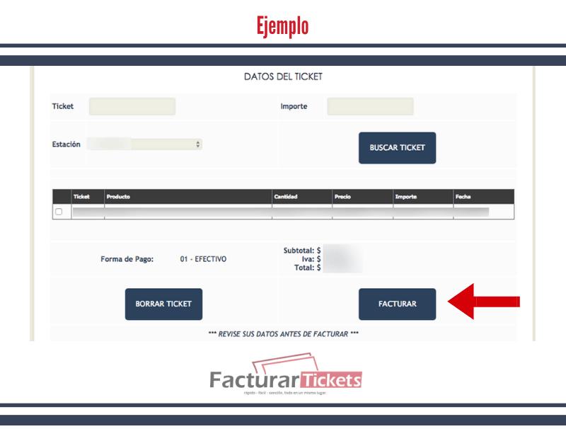 Ejemplo: Verificar datos de factura.
