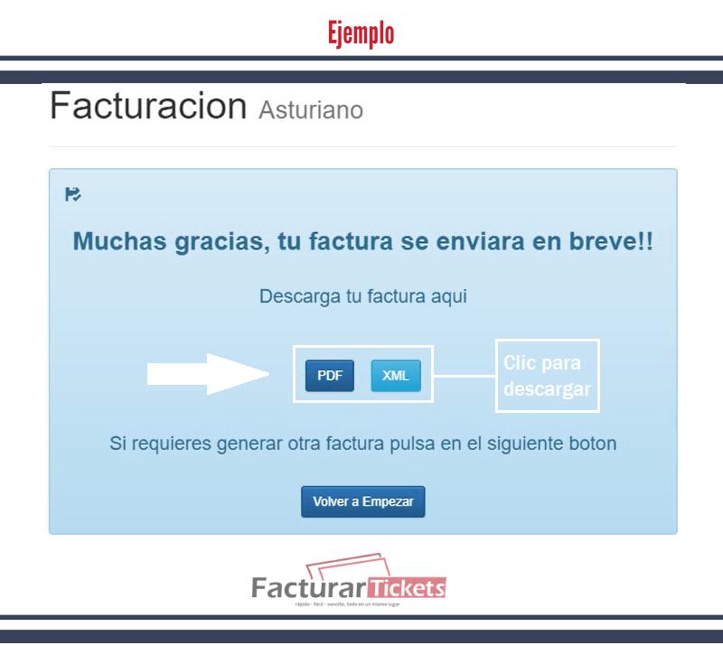 Ejemplo: Descargar factura el Asturiano.