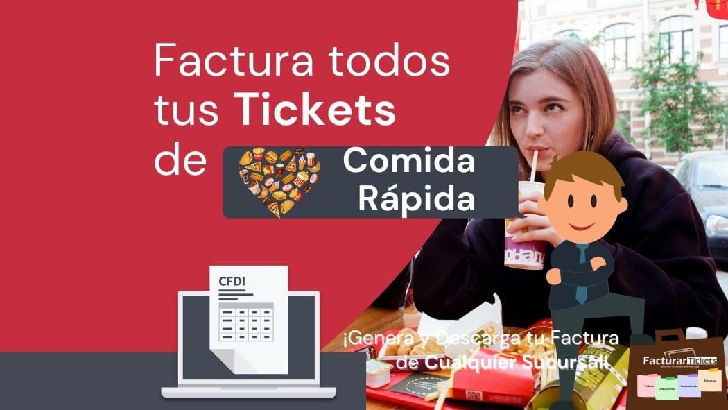 facturar tickets de establecimientos de comida rapida