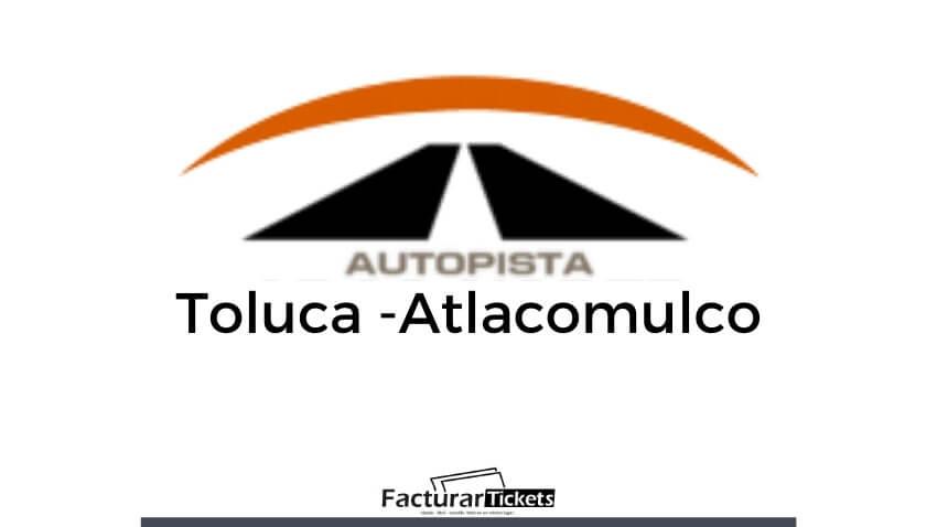 logo facturar autopista Toluca Atlacomulco